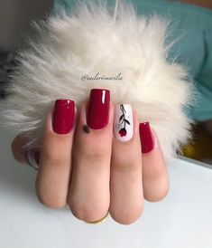15 ideas for fails design summer gel red Wedding Acrylic Nails, Cute Acrylic Nails, Cute Nails, Pretty Nails, Fabulous Nails, Gorgeous Nails, Square Nail Designs, Minimalist Nails, Flower Nails