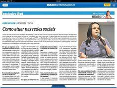 Camila Porto e o Curso Estratégias de Vendas no Facebook foi destaque também no Diário de Pernambuco na versão digital.