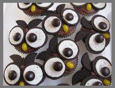 Ugle muffins af oreos