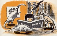 Quiet on Account of Dinosaur - written by Jane Thayer, illustrated by Seymour Fleishman (1964).