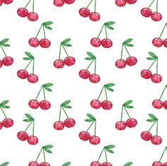watercolor cherries fabric by littlearrowdesign on Spoonflower - custom fabric