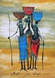 Martin K. Bulinya was born on 21 July 1961 in a village called Moiben near Eldoret, Kenya. Bulinya has worked as freelance illustrator . African Artwork, African Art Paintings, Arte Tribal, Tribal Art, Worli Painting, Painting Videos, Crayons Pastel, Tribal African, Africa Art