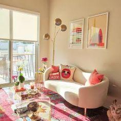 Colorful Apartment, Retro Apartment, Living Room Decor, Bedroom Decor, Colourful Living Room, Aesthetic Room Decor, Colorful Decor, Bright Decor, Funky Home Decor