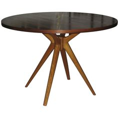 Osvaldo Borsani T40 Center/Dining Table w/ Rosewood Top--signed | 1stdibs.com
