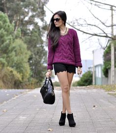 * Petit and Sweet Couture: Black & Burgundy...
