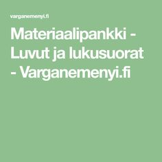 Materiaalipankki - Luvut ja lukusuorat - Varganemenyi.fi Daily Math, Place Values, Thinking Skills, Preschool, Maths, Teaching Ideas, Diamonds, Clock, Daily Five Math