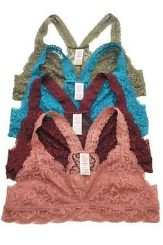 Gorgeous lace racerback bralette, lined, soft, and perfect amount of stretch. 90% Polyester, 10% Spandex