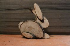 Picture of Easter Bunny from logs