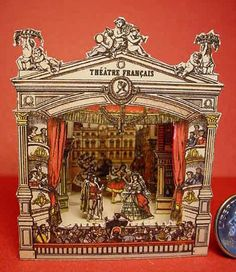 Theatre Fancais Miniature Paper Toy Theater by TerrillCSmith, $75.00