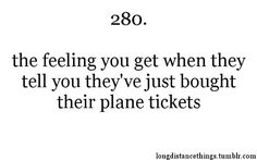 Or their train tickets.....Long distance love