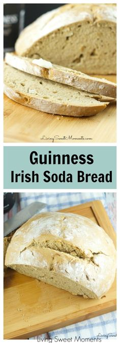 Guinness Irish Soda Bread - Delicious and easy to make homemade beer bread. Enjoy a deep flavor with without kneading. This bread requires no yeast at all. More St. Patrick's Day Recipes at http://livingsweetmoments.com via @Livingsmoments