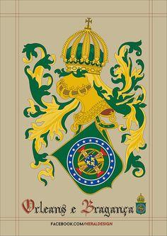 Príncipe de Orléans e Bragança. Prince of Orléans e Bragança. Scotland History, Unique Symbols, Medieval, Holy Cross, Family Crest, Crests, New Years Eve Party, Coat Of Arms, E Design