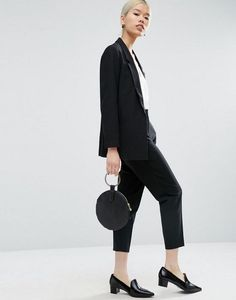 ASOS Tailored Crepe Suit in Black