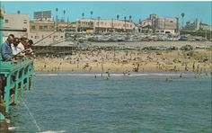 """""""Fishing from the Pier at Redondo Beach, California"""" chrome Postcard Redondo Beach Pier, Redondo Beach California, Old Photos, Vintage Photos, California History, Hermosa Beach, Pacific Coast Highway, Dolores Park, Childhood Memories"""