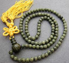 108 Jade Beads Tibetan Buddhist Prayer Mala Necklace  by 8giftshop, $4.90