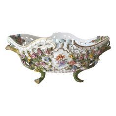 Meissen Reticulated Porcelain Footed Basket | eBay