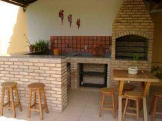 projetos de area de lazer com churrasqueira e forno - Pesquisa Google