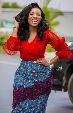 Zahra serwaa amihere in African print skirt 2020 fashion African Wear Dresses, Ankara Dress Styles, African Fashion Ankara, Latest African Fashion Dresses, African Print Fashion, African Attire, African Style, 30 Outfits, Stylish Eve Outfits