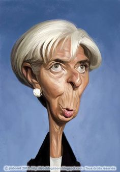 Caricature de Christine Lagarde