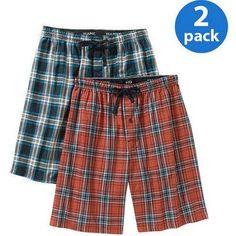 Hanes Big Men's 2-Pack Woven Sleep Jam Short, Size: 2XL, Blue