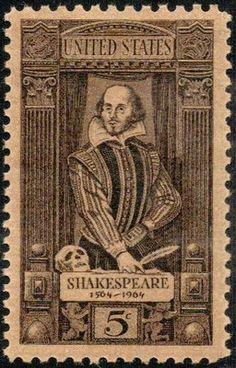 1964 5c W. Shakespeare Scott 1250 Mint F/VF NH