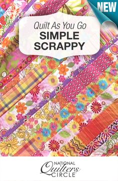 Don't you just love this? New quilt as you go project! http://www.nationalquilterscircle.com/video/quilt-as-you-go-strip-quilt/?utm_source=pinterest&utm_medium=organic&utm_campaign=A219 #LetsQuilt
