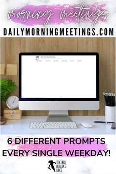 Are you a teacher who needs to settle your students at the start of the day or a lesson? a consistent and fun morning routine in your classroom? a way to encourage your students to have meaningful conversations or writing prompts? an effective morning check in to connect with your students and attend to their social emotional needs? Then these daily morning meetings are all you need! Every weekday, a new prompt will appear for you to use in your classroom. There are 6 different themes each day! Secondary Teacher, Secondary School, High School Classroom, Classroom Ideas, Teacher Resources, Teaching Ideas, Daily Fun Facts, Morning Announcements, Daily Jokes