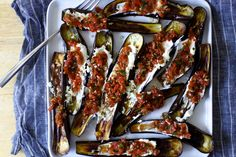 This is not a recipe for eggplant caviar, but caught up in an adoration of July eggplants too lovely to roast just to grind up, it is loosely inspired by it. If you're unfamiliar with eggplan…