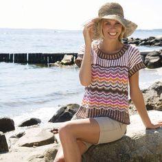 Strik en sød og farverig tunika