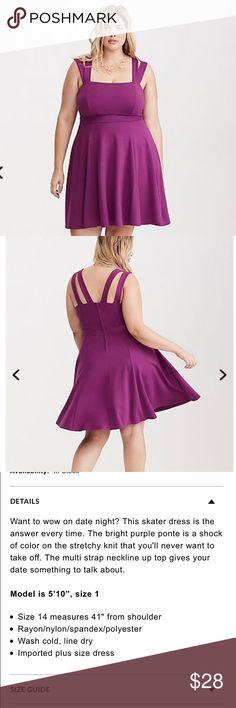 Torrid ponte skater dress Strappy ponte skater dress torrid size 18 torrid Dresses