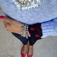 Valentine's Day Outfit Kisses and Jewels