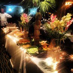 12/30/13 'Paradise Island' theme food presentation~ pineapple tree