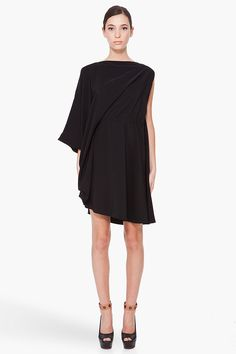 black convertible dress ++ maison martin margiela