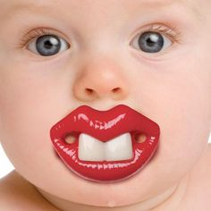 Funny face pacifier for your baby