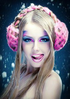 Make-up artist Elena Chepeleva, photo by Anna Kirikova