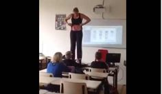 This biology teacher strips in front of kids twice, read to know why?