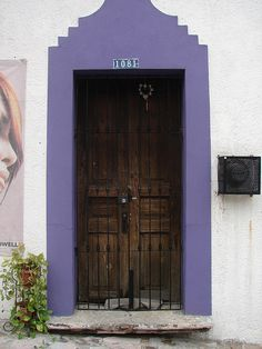 Door #1081 by Dee Kincke, #purple #wood