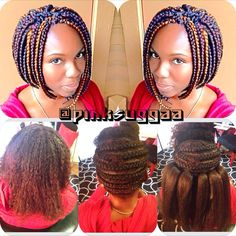 Box Braids / Crochet Braids / Braided Bob