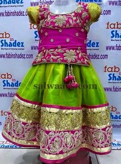 Green Pink Floral Design Lehenga | Indian Dresses