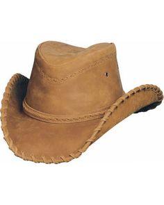 66ca0f0eda7 Bullhide Men s Sydney Leather Hat