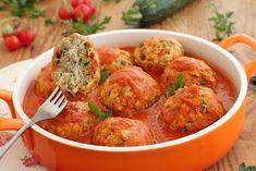 wesoła kuchnia: Pulpety z cukinią w pomidorach Polish Recipes, New Recipes, Dinner Recipes, Healthy Recipes, Polish Food, Brunch, Good Food, Yummy Food, Sweet And Salty