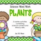 Five word work station activities combining science content and literacy skills. Contains 40 word cards related to plants. Sort into categories, put in ABC order, or sort by syllables. Also includes a prefix and root word activity to build words.