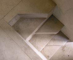 """restoration of palazzo steri for the university of palermo, palermo 1973-1998. architects: roberto calandra, camillo filangeri, nino vicari, carlo scarpa (until his death in 1978).  stone stairs.  this photo was uploaded with a CC license and may be used free of charge and in any way you see fit. if possible, please name photographer """"SEIER+SEIER"""". if not, don't.  the scarpa set."""
