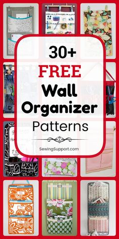 A collection of over thrity free fabric wall organizer patterns, tutorials, and diy projects to sew. Sewing Hacks, Sewing Tutorials, Sewing Tips, Sewing Patterns Free, Free Sewing, Sewing Pattern Storage, Sewing Projects For Beginners, Diy Projects, Wand Organizer