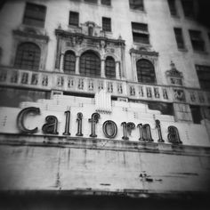 Black and White Photography - 8x8 Fine Art Photo Print - Vintage California Theater on Etsy, $20.00