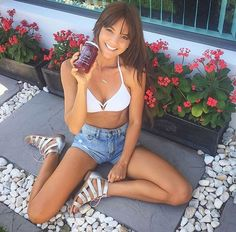 Wish we were starting our day like @danibonner - juice sunshine and our new 'Goose' silver sandals