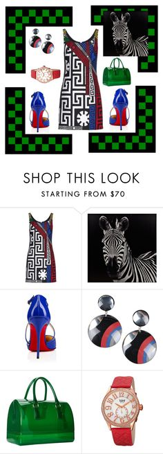 """""""Mood Swings"""" by dlc18424 ❤ liked on Polyvore featuring Versace, Christian Louboutin, First People First, Furla, bürgi, women's clothing, women, female, woman and misses"""