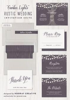 Rustic Wedding Invitation by Hooray Creative #rusticwedding #invitation #minted