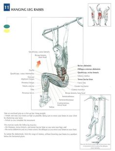Ab excersise - hanging leg raises ~ Re-Pinned by Crossed Irons Fitness