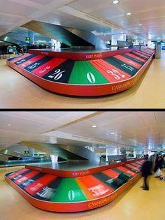 16 originales ejemplos de Publicidad y Marketing Guerrilla en el carrusel del aeropuerto